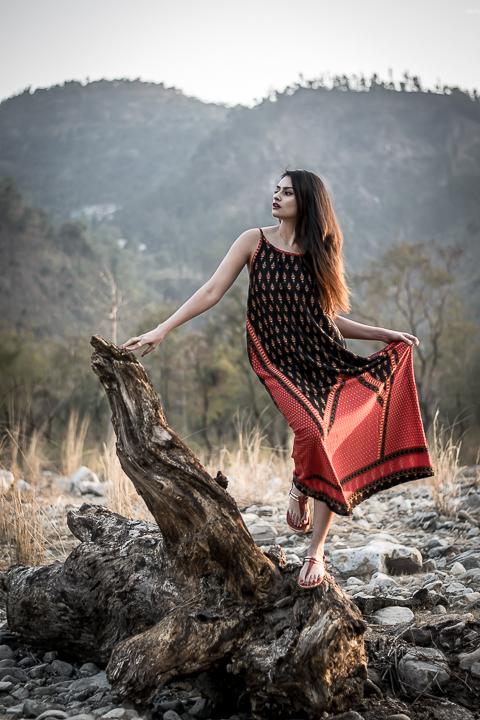 Color Block Print indian dress shradsblog