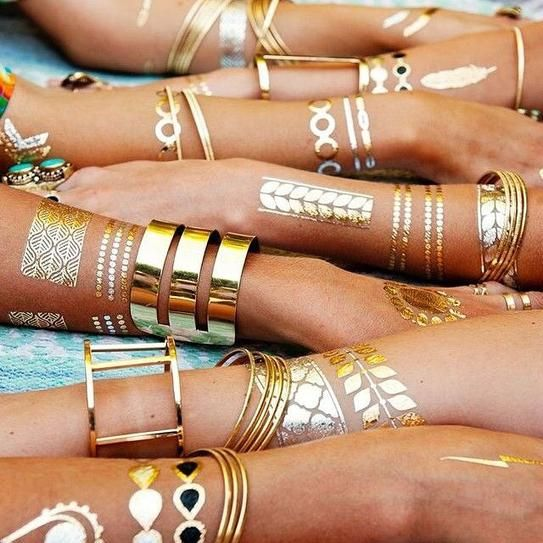 Trend Alert : Metallic Flash Tattoos