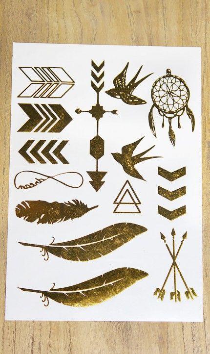 Metallic Flash Tattoos Strip