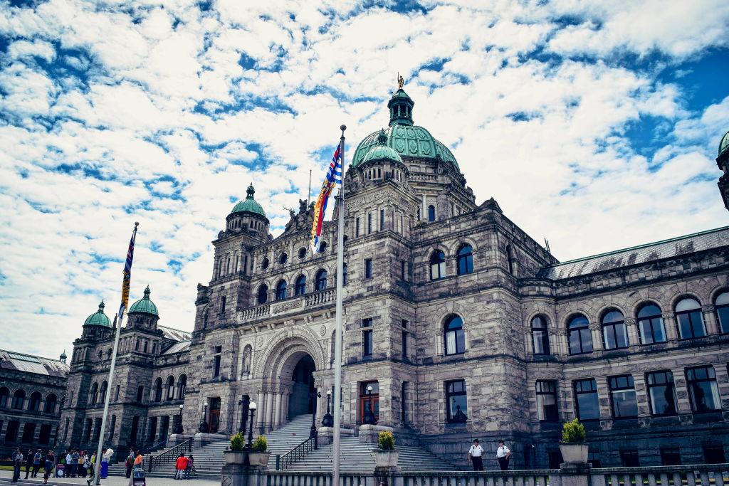The British Columbia Parliament Buildings Victoria