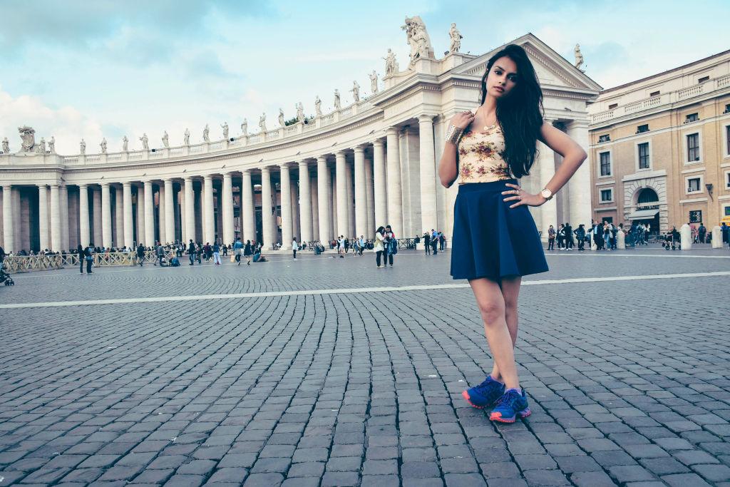 Vatican Museum fashion shoot