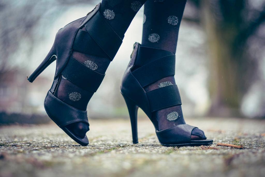black stilettoes