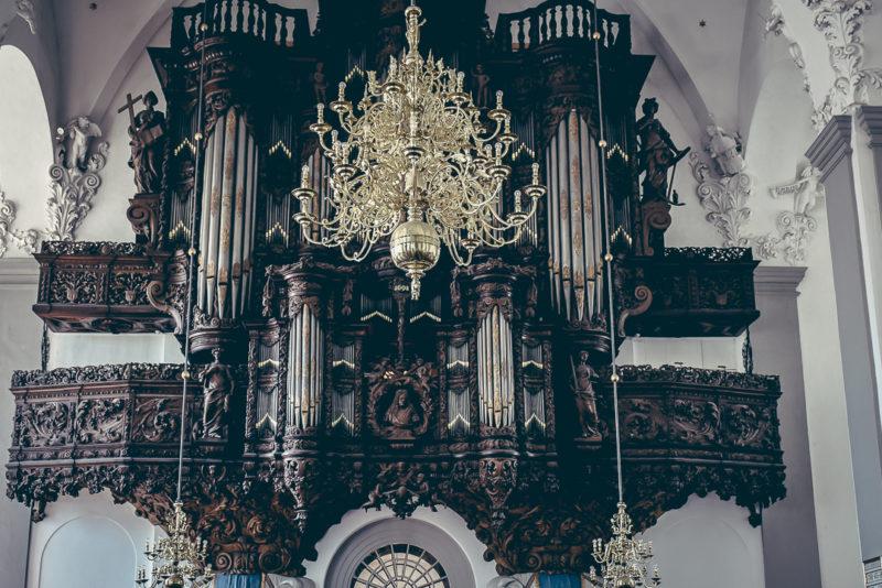 Wooden organ at Church of Our Saviour
