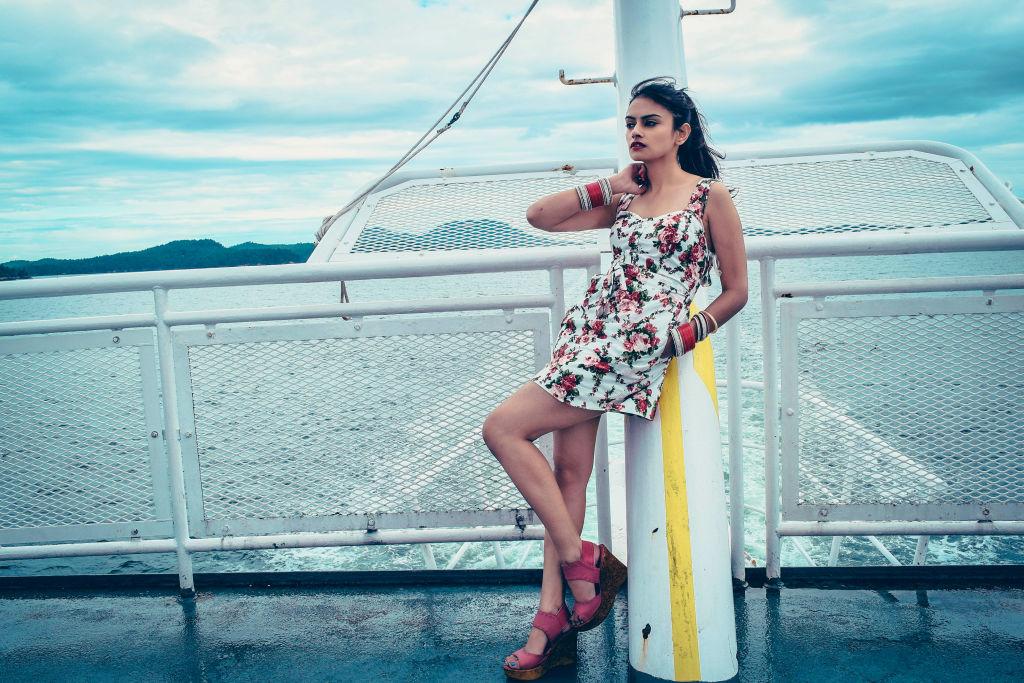 fashion shoot on ferry