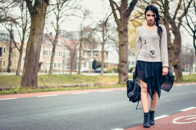 Grunge Goth Sweater Skirt