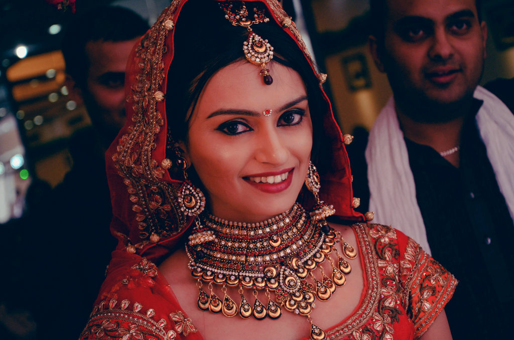 indian wedding bridal makeup and jewellery
