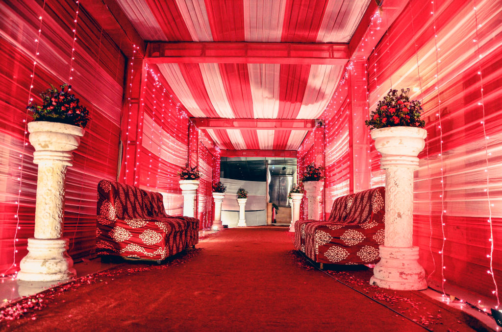 indian wedding entrance decoration